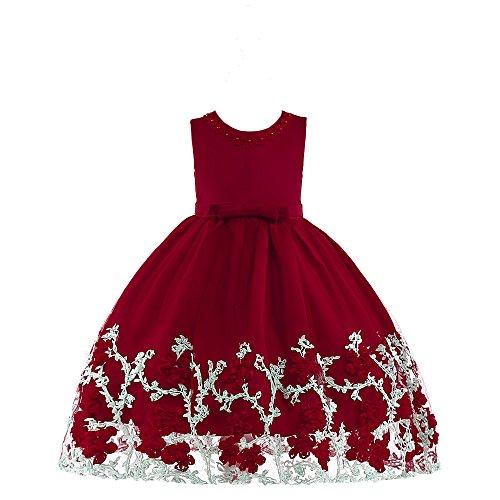 Ropa Niña,Chica Tutu Vestido,Lonshell Infantil Bebé Niña Vestido de Chaleco de Mariposa estereoscópico de niñas Vestido de Princesa Ropa de Trajes para 2-7 años Arco Vestido Ropa