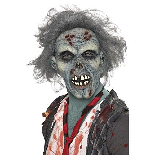 loweenmaske Zombie Maske Horror Zombiemaske Grusel Monstermaske Toter Horrormaske Halloween Kostüm Accessoire Karnevalskostüme Zubehör ()