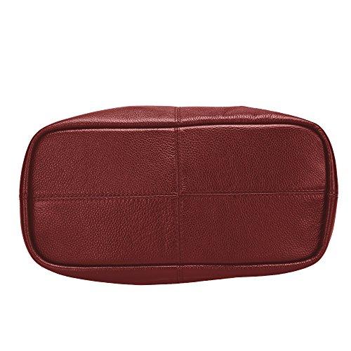 d64dcc15487a8 ... Damero Damen Ledertasche Handtasche Schultertasche mit abnehmbarem  Futter