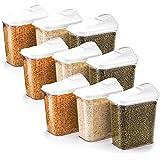 [Sponsored]Star Work Cereal Dispenser Easy Flow Storage Jar 750 Ml, Idle For Kitchen- Storage Box Lid Food Rice Pasta Container (9)