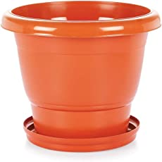 Aristo Plastic Round Planter Pot 24 inches (Pack of 3) - (PP 5 Plastic Material)