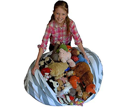 FJROnline Sitzsack für Kinderspielzeug, Stoffbezug, Stoffbezug, Stofftier, Kleidung, Quilts,...