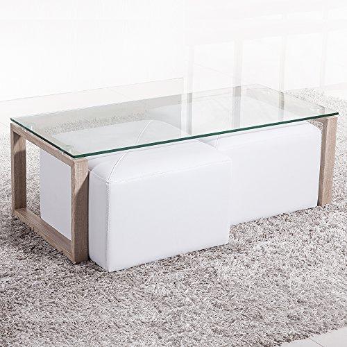 3. Adec - Mesa de centro de crista estilo minimalista