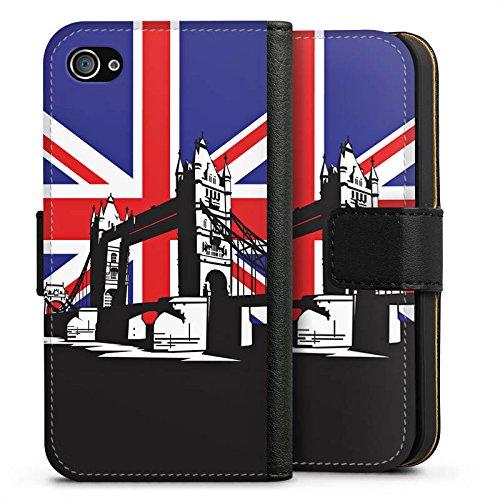 Apple iPhone X Silikon Hülle Case Schutzhülle London Großbritannien Tower Bridge Sideflip Tasche schwarz