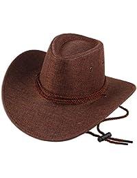 5c7a363387eeb Gysad Cool Sombrero Vaquero Transpirable y cómodo Cowboy Hat Protector  Solar Sombrero Hombre Unisex Gorras