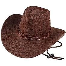 9546298abe Emorias 1 Pcs Sombrero de Vaquero Hombre Cowboy Retro Sombrero de Copa  Gorra Niño Viajes Accesorios