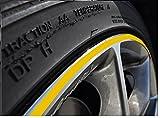 5mm Gelb Felgenrand Aufkleber 10-24 Zoll Radgröße passend für Motorrad und Auto geeignet