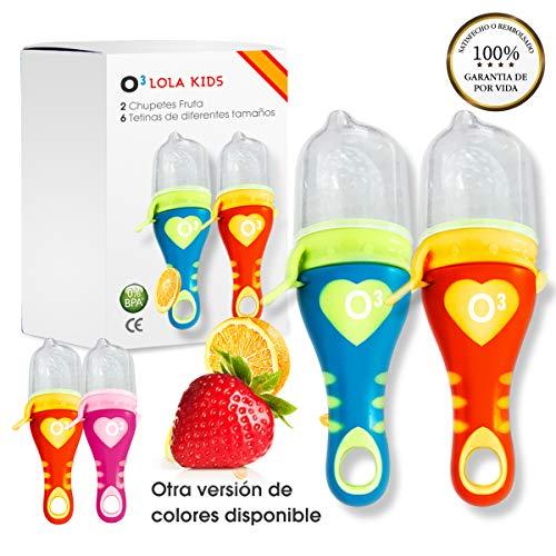 O³ Chupete Fruta - 2 Unidades 6 Tetinas De Diferentes