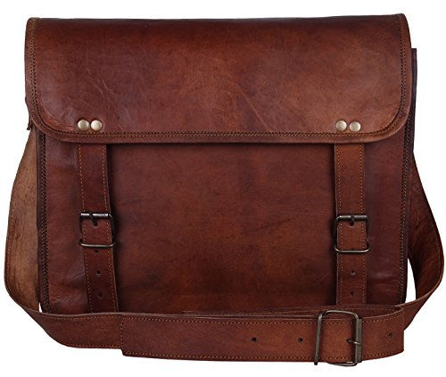 - 51ZRvA2VLnL - Rustic Town Leather Vintage Crossbody Messenger Courier Bag Gift Men Women Business Work Carry Laptop Computer Books Handmade Rugged & Distressed ~ Everyday Office College School 13 Inch  - 51ZRvA2VLnL - Deal Bags