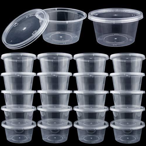 Aufbewahrungsbehälter für Schlamm mit Deckel, 113 ml, durchsichtig, 40 Stück (Dichtung Schlamm)
