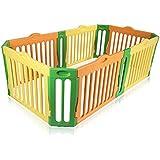 Baby Vivo Parque corralito plegable puerta robusto plastico bebe barrera de seguridad jugar - Parque Infantil Rectangular - Modelo 2017