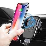 Humixx Handyhalterung Auto, [Lebenszeit-Garantie] Qi Ladegerät Auto Ein-Hand-Operative Auto-Air Vent Universal-Handyhalterung Kompatibel für Phone mit Einer Breite von (Tiefes Grau)