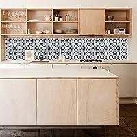 Adhesivos para Azulejos - Paquetes con 24 (20 x 20 cm, Pegatinas Azulejos - Azulejos Mosaico - Mosaico Negro - Azulejos para Baño y Cocina - Azulejos Decorativos - Azulejos para Pisos)