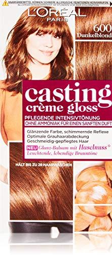 L\'Oréal Paris Casting Crème Gloss Glanz-Reflex-Intensivtönung 600 in Dunkelblond, 3er Pack (3 x 1 Stück)
