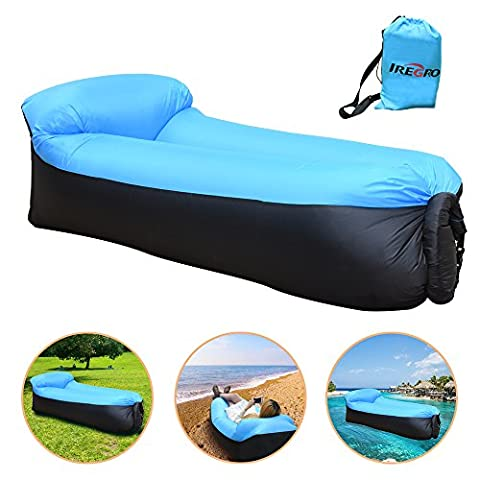 iRegro Chaise Gonflable, Portable étanche Durable Poids léger Polyester Air