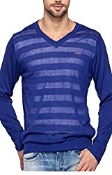 Spykar Mens Blue Regular Fit Mid Rise Sweatshirts (Large)