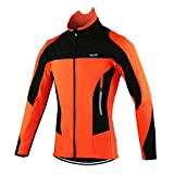 Arsuxeo 15F Homme Hiver Cyclisme Veste Cycling Jacket (XXXL(CN) / XXL(EU), Orange)