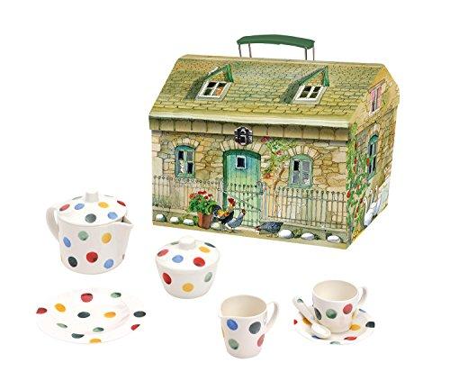 Emma Bridgewater Polka Dot 19 Piece Melamine Tea Set in House Carry Box
