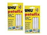2 x UHU patafix weiß, wieder ablösbare Klebepads, 2 x 80 Stück