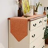 LUCKY Mesa de algodón Mesa Mesa de algodón Color sólido Tabla de Mesa Mueble TV Cubierta de Zapato paño Naranja, Blanco cremoso, Gris (Color : Orange, Size : 30cm*120cm)