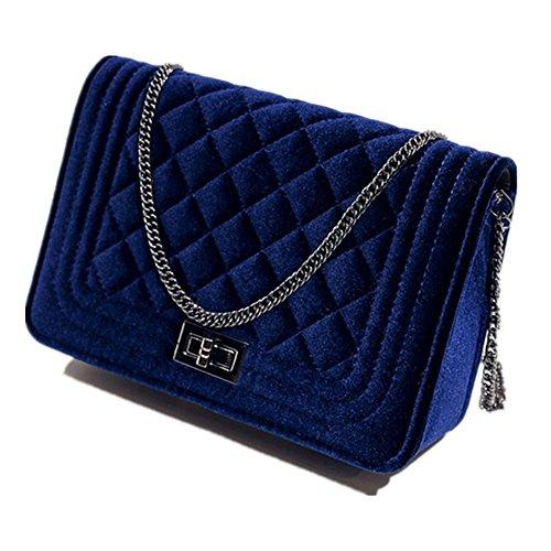 Eysee, Borsa a tracolla donna vinaccia rosso Blue 23cm*14cm*8cm. Blue