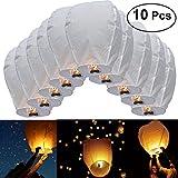 Pixnor Himmel-Laterne 10ST Oval Sky Laterne chinesische Kongming Laterne wollen Lampen für Hochzeit Party Weihnachts Dekoration