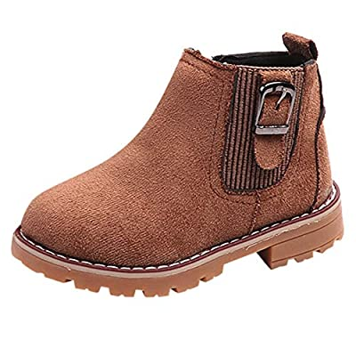 Sannysis Winter Warm Martin Schuhe Kinder Jungen Mädchen Lederschuhe Blumen Weichen unteren Seiten Reißverschluss Stiefel Schneestiefel 26-35