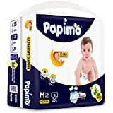 Papimo Baby Pants Diapers with Aloe Vera , Medium, 76 Count