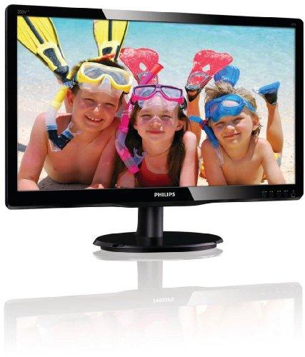 Philips 200V4LAB/00 49,5 cm (19 Zoll) Monitor (VGA, DVI, 5ms Reaktionszeit) schwarz