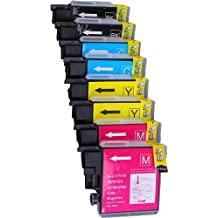 Pack 8 Brother LC-1100 , LC-980 , LC-985 Cartouches Compatibles. 2 noir, 2 cyan, 2 magenta, 2 jaune compatible avec Brother DCP-145C, DCP-163C, DCP-165C, DCP-167C, DCP-185C, DCP-195C, DCP-197C, DCP-365CN, DCP-373CW, DCP-375CW, DCP-377CW, DCP-383C, DCP-385C, DCP-387C, DCP-395CN, DCP-585CW, DCP-6690CW, DCP-J125, DCP-J140W, DCP-J315W, DCP-J515W, DCP-J715W, MFC-250C, MFC-255CW, MFC-257CW, MFC-290C, MFC-295CN, MFC-297C, MFC-490CW, MFC-5490CN, MFC-5890CN, MFC-5895CW, MFC-6490CW, MFC-6890CDW, MFC-790CW, MFC-795CW, MFC-990CW, MFC-J220, MFC-J265W, MFC-J410, MFC-J415W, MFC-J615W, MFC-J615W.Cartouches Compatibles. JET D ENCRE imprimantes. LC-1100BK , LC-1100C , LC-1100M , LC-1100Y , LC-980BK , LC-980C , LC-980M , LC-980Y , LC-985BK , LC-985C , LC-985M , LC-985Y © Encre Choix