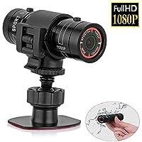 Sfun SSC001completo HD Mini Deportes trampeo 1080P impermeable de acción deporte casco moto casco Action video cámara DVR AVI Video camcorder- Support 32GB TF tarjeta