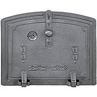 509f10efc378 Puerta de fundición con cristal para horno de leña de tamaño medio /(peso:  16 ...