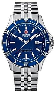 Swiss Military Hanowa 06-5161.7.04.003 - Reloj analógico de cuarzo para hombre, correa de acero inoxidable color plateado de Swiss Military Hanowa