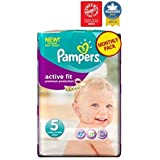 Pampers Taille 5 Pack Actif Des Couches D'Ajustement Mensuel - 136 Couches -