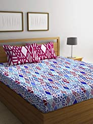 Bombay Dyeing Axia Collection Flat Double Bedding Set, Multi-Colour, 220 x 240 cm, 3954 A