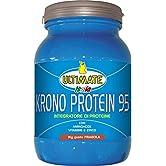Krono Protein 95-4 Proteine Del Latte, Albume d'Uovo, Proteine Isolate Della Soia - 5 Aminoacidi - Massimo Valore Biologico - Nutre I Muscoli Per 5 Ore - Gusto Fragola – 1 Kg - Ultimate Italia - 51ZS2Uh9%2BgL. SS166