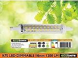 ECOBELLE® 1 x 11W R7s Dimmbar LED Leuchtmittel Lampe mit Gehäuse aus Keramik für bessere Kühlung, 1200 Lumen (Hohe Lumen Lampe!!!), warm-weiß 3000K, 118 mm x 18 mm, 360°