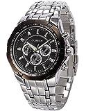 AMPM24 Analog Herren Uhr schwarz Quarzuhr Edelstahl silber Armbanduhr