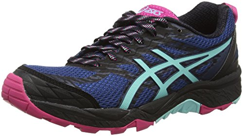 Asics Gel-Fujitrabuco 5, Zapatillas de Correr Mujer, Azul (Poseidon/Aruba Blue/Sport Pink), 38 EU