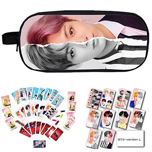 Kit BTS Bangtan Boys BTS Love Yourself Answer, Bleistiftetui/Kosmetiktasche + BTS-Kartenaufkleber + BTS-Fotokarte mit Clip und Hanfseil(Version L5) ()