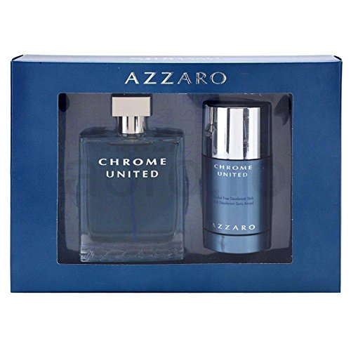 AZZARO CHROME UNITED GESCHENKSET (EDT SPRAY 100 + DEO STICK 75)