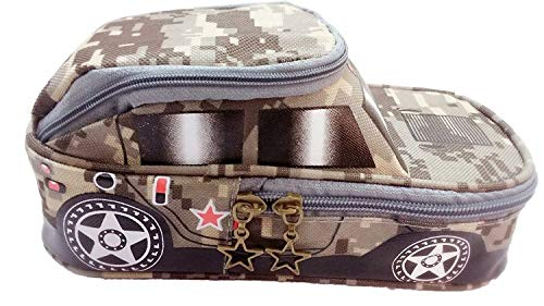 Mist Jeep Car Shape Multipurpose Pencil Pouch with 2 Compartments