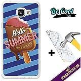 BeCool® Fun - Coque Etui Housse en GEL Flex Silicone TPU Samsung Galaxy A5 2016 [ +1 Protecteur Verre Trempé ] , protège et s'adapte a la perfection a ton Smartphone et avec notre design exclusif. Glaces pour l'été