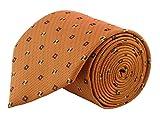 #8: Modo Formal Ties For Men, Geometric Yellow Extra Slim Tie
