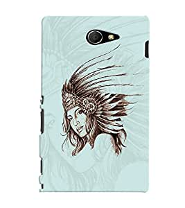 PrintVisa Stylish Cool Girl Queen 3D Hard Polycarbonate Designer Back Case Cover for Sony Xperia M2 Dual