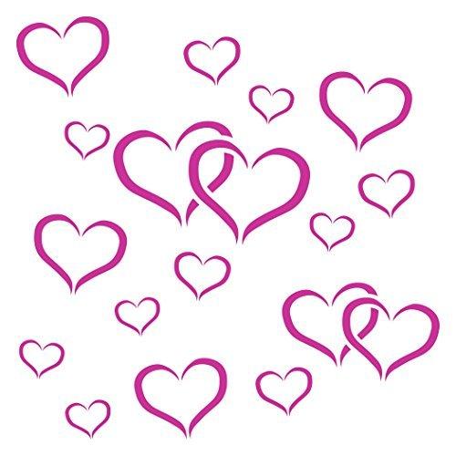 Love Hearts Schablone Wiederverwendbare Schablonen für Malerei–Beste Qualität Scrapbooking Valentines Ideen–Verwendung auf Wände, Böden, Stoffe, Glas, Holz, Plakate, und mehr... m weiß