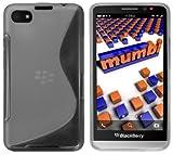 mumbi Schutzhülle für BlackBerry Z30 Hülle transparent schwarz