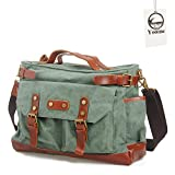Yoome tela ventiquattrore borsa da viaggio borsa da viaggio in vera pelle per uomini e donne Weekender Tote
