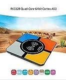 (con función de Carga inalámbrica) R-TV Box S10 Plus Android 8.1 OS Smart TV Box RK3328 Quad Core 4 GB + 32 GB Compatible con WiFi/4K/H.265/USB3.0/3D