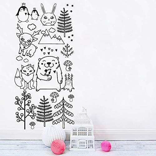Heißer verkauf tiere und baum set wandaufkleber für kinderzimmer wohnkultur kunst diy tapete qualität wasserdicht abnehmbare wandbild ls 56 cm x 117 cm - Gepäck-sets Verkauf